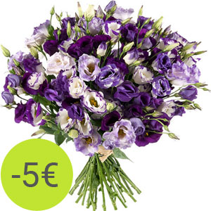 Délicat lisianthus : 25 euros au lieu de 30 euros