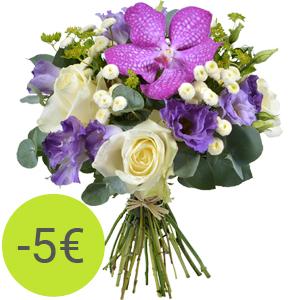 Bouquet Rêve d'orchidée : 23 euros au lieu de 28 euros