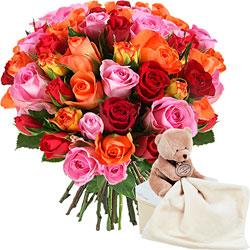 cadeau naissance faites livrer un joli bouquet de fleurs. Black Bedroom Furniture Sets. Home Design Ideas