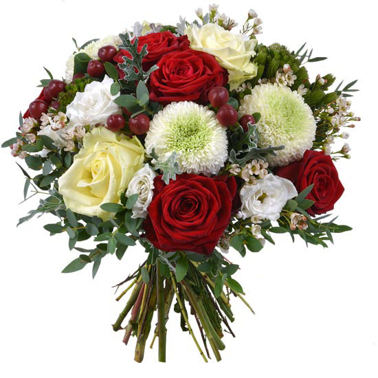 Home flower delivery Christmas bouquet