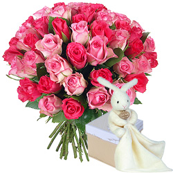 Cadeau naissance faites livrer un joli bouquet de fleurs for Livrer un bouquet