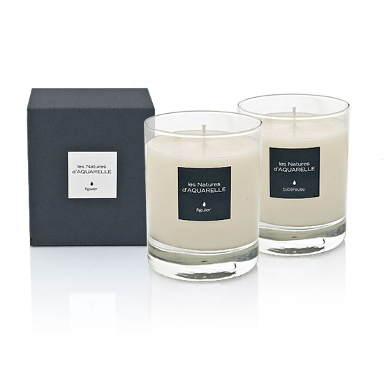 Two 190g scented candles
