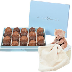 Box of Rochers and Cuddly Bear