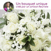Florist's bouquet for a funeral - white by 123fleurs