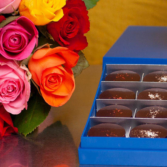 Roses and Dark Chocolate Palets