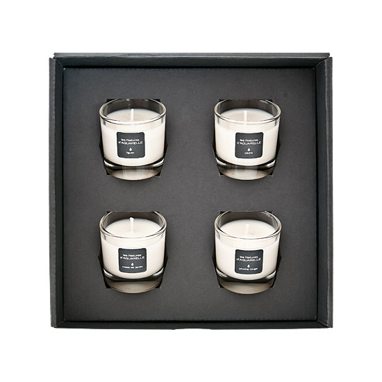 coffret de 4 bougies parfum es de 30g aquarelle. Black Bedroom Furniture Sets. Home Design Ideas