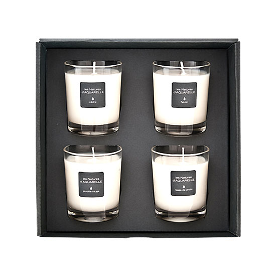 Four 70g scented candles