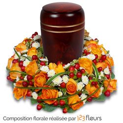 Respect floral urn decoration