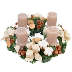 Natural Advent Wreath