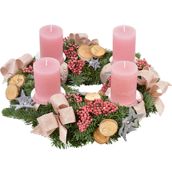 Frosted Pink Advent Wreath