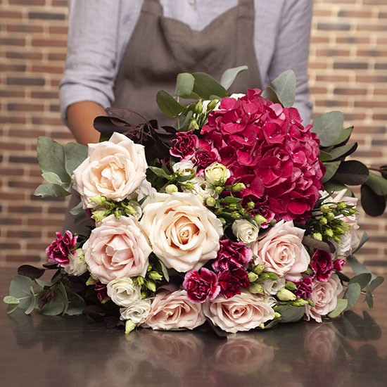 Opulent romantic bouquet