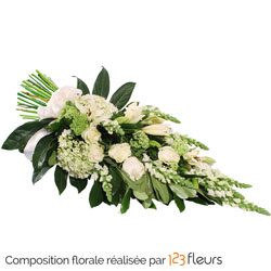 Antonia hand-tied funeral spray