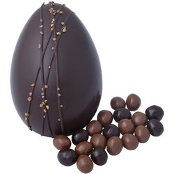 Large rich dark chocolate egg and mini eggs