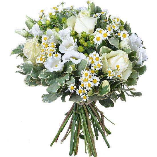 Small white bouquet aquarelle for Bouquet de lys