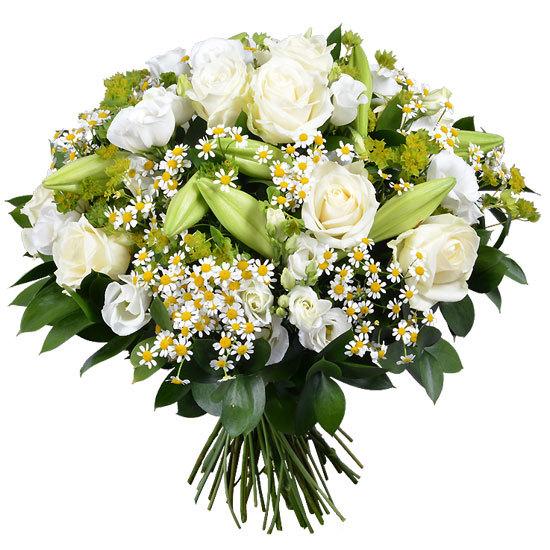 majestueux bouquet blanc aquarelle aquarelle. Black Bedroom Furniture Sets. Home Design Ideas