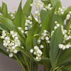 Lily-of-the-valley and taupe vase