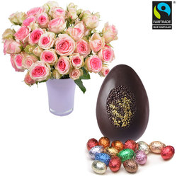 Gold Prestige Egg and Roses