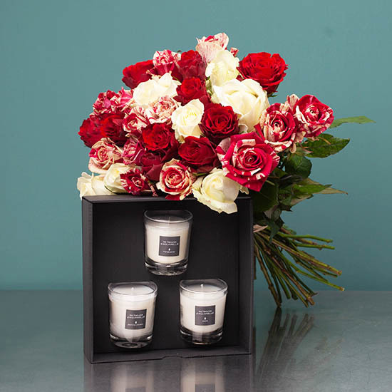 Passion Duo : Roses and candles