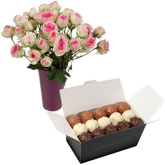 Rochers and fair trade Mimi Eden roses