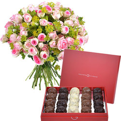 Sweet Romance rochers and roses