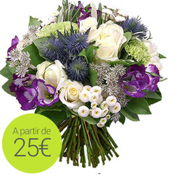 Bleu and white bouquet