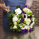 Blue and cream perfumed bouquet