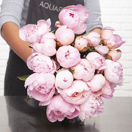 Send a sSuperb bouquet of peonies