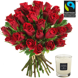Order roses and a scented candle