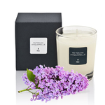 A fragrant 'lilac' scented candle