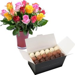 Rochers and Fairtrade roses