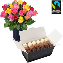 Rochers en fairtrade rozen