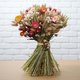 colourful dried flower bouquet