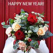 Flowers and gifts for the New Year