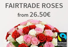 Fairtrade rose bouquets from 26.50 euros