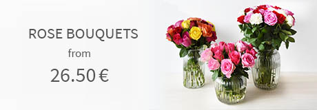 Rose bouquets from 26.50 euros