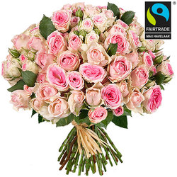 A gorgeous bouquet of Mimi Eden roses. These spray roses were chosen for their fresh, delicate charm! Home flower delivery.