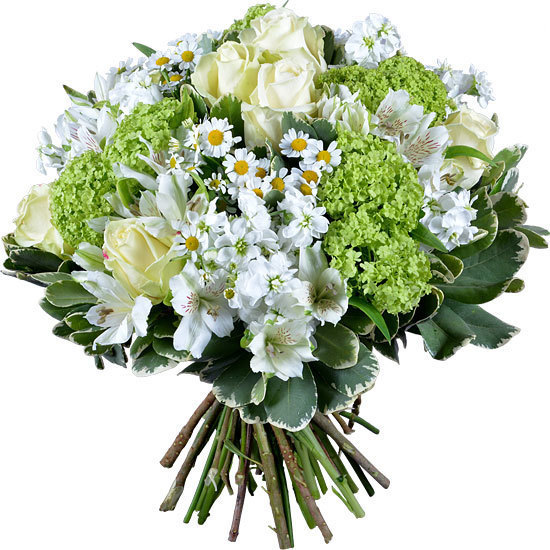 Fresh White and Green Bouquet