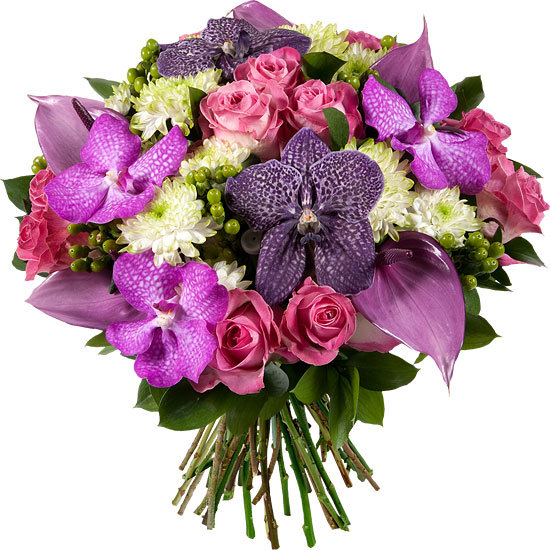 Send a luxurious bouquet in pink and mauve