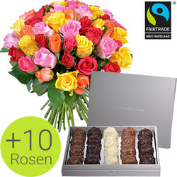 FAIRTRADE roses and chocolates