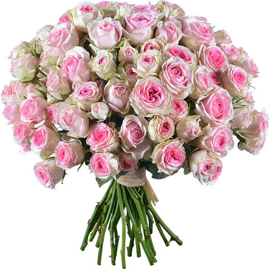Bouquet Of Mimi Eden And Dinara Spray Roses Aquarelle