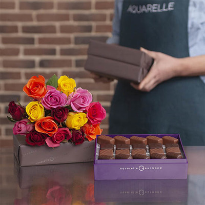 Roses and Praline Chocolates