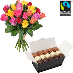 Chocolate rochers and 20 roses