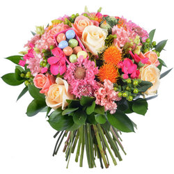 Happy Easter Bouquet with mini chocolate eggs