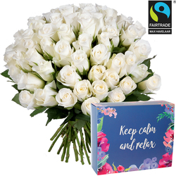 White roses with Cocooning box set