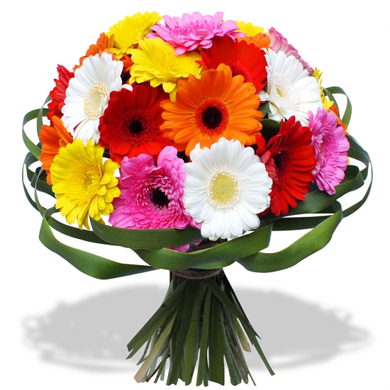 Same day delivery available with the Rainbow Bouquet.