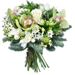 Same day delivery available with the North Pole Bouquet