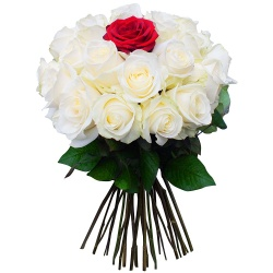 Same day delivery available with the Midnight Sun Bouquet.