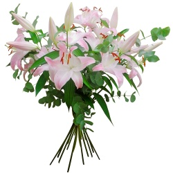 Same day delivery available with the Lily Bouquet