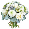 Same day delivery available with the White Christmas Bouquet