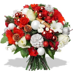 Same day delivery available with the Ho Ho Ho Bouquet